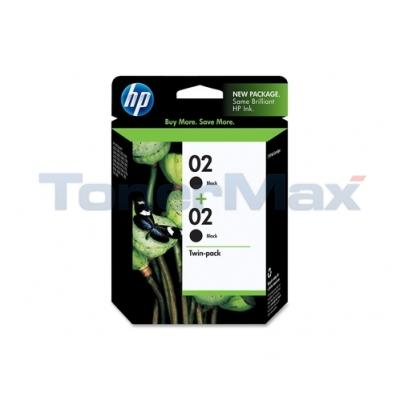 HP NO 02 INK BLACK TWIN PACK